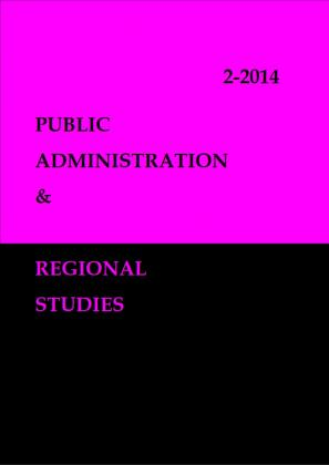 Cover for Public administration & Regional studies: no. 2/2014