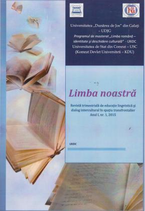 Cover for Limba noastră: Anul I, Nr.1, 2015