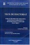 Cover for Cercetări privind creşterea eficienţei energetice a sistemelor de acţionare electrică: teză de doctorat