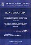 Cover for Contribuţii la studiul solicitărilor la impact ale compozitelor cu matrice epoxidică armate cu ţesături: teză de doctorat