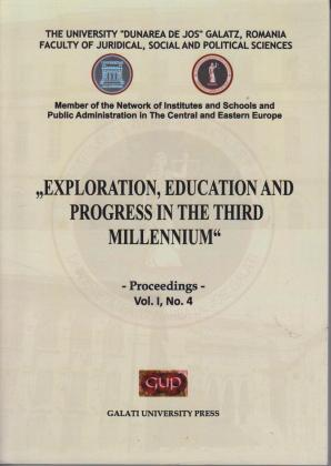 "Cover for International conference ""Exploration, education and progress in the third millenium"": Galati, 20th-21st of April, Vol. I, no. 4, 2012"
