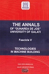 "Cover for The Annals of ""Dunarea de Jos"" University of Galati,  Fascicle V, Technologies in Machine Building: vol.II (year XXXV), 2012"