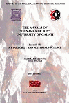 """Cover for The Annals of """"Dunarea de Jos"""" University of Galati, Fascicle IX, Metallurgy and Materials Science: Year XXIX (XXXIV), no. 1, March 2012, Year XXXI"""