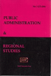Cover for Public Administration and Regional Studies: No. 1, 2013