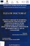 Cover for Politici tarifare în domeniul serviciilor comunitare de utilităţi publice, între liberalizare şi monopol - aplicaţii în domeniul serviciilor de alimentare cu apă şi canalizare: teză de doctorat
