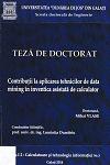 Cover for Contribuţii la aplicarea tehnicilor de data mining în inventica asistată de calculator: teză de doctorat
