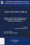 Cover for Unelte şi practici agricole pe teritoriul Ţării Româneşti  (secolele XIII-XVI): teză de doctorat