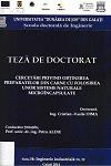 Cover for Cercetări privind obţinerea preparatelor din carne cu folosirea unor sisteme naturale microcapsulate: teză de doctorat