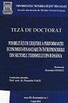 Cover for Posibilităţi de creştere a performanţei economico-financiare  în întreprinderile din sectorul turismului în România: teză de doctorat