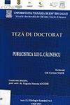Cover for Publicistica lui G. Călinescu: teză de doctorat