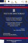 Cover for Cercetări privind optimizarea tehnicilor acvaponice  de control a calității apei în sistemele recirculante  de acvacultură: teză de doctorat
