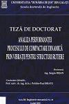 Cover for Analiza performanţei procesului de compactare dinamică  prin vibraţii pentru structuri rutiere: teză de doctorat