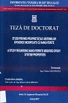 Cover for Studii privind proprietăților sistemelor epoxidice modificate cu nano-ferite: teză de doctorat