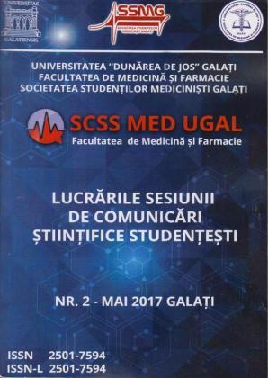 Cover for SCSS MED UGAL. Lucrările sesiunii de comunicări  științifice studențești: nr. 2, Mai, 2017