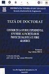 Cover for Contribuții la studiul experimental și numeric al pachetelor de protecție balistică cu fibre aramidice: teză de doctorat