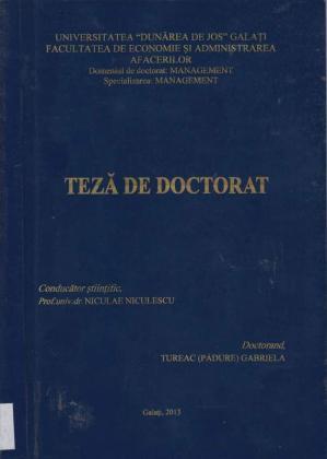 Cover for Politici şi strategii privind evaluarea sistemului de asigurare a calitaţii produselor şi serviciilor oferite de băncile comerciale din România: teză de doctorat