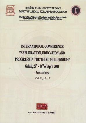"""Cover for International conference """"Exploration, education and progress in the third millennium"""""""