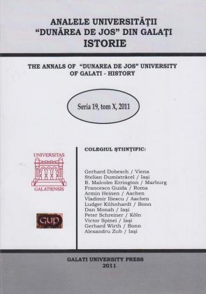 "Cover for The Annals of ""Dunarea de Jos"" University of Galati,  History"