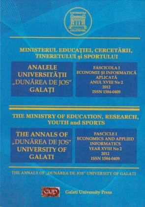 """Cover for The Annals of """"Dunarea de Jos"""" University of Galati,  Fascicle I, Economics and Applied Informatics"""