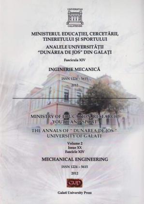 "Cover for The Annals of ""Dunarea de Jos"" University of Galati,  Fascicula XIV, Issue XX, Inginerie Mecanică"
