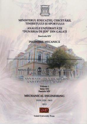 """Cover for Analele Universității """"Dunărea de Jos"""", Fascicula XIV, Issue XXI,  Inginerie mecanică"""