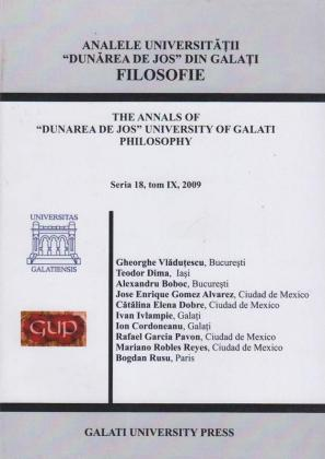 """Cover for Analele Universității """"Dunărea de Jos"""", Seria 18, Tom IX, Filosofie"""