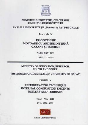 """Cover for Analele Universității """"Dunărea  de Jos"""", Fascicula IV, Frigotehnie, motoare cu ardere  internă, cazane și turbine"""