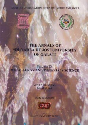 "Cover for The Annals of ""Dunarea de Jos"" University of Galati, Fascicle IX, Metallurgy and Materials Science"