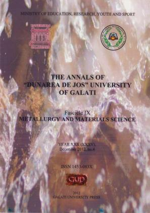 """Cover for The Annals of """"Dunarea de Jos"""" University of Galati, Fascicle IX, Metallurgy and Materials Science"""