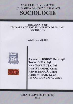 """Cover for Analele Universității """"Dunărea de Jos"""", Fascicula XX, Sociologie"""