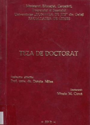Cover for Mișcarea teatrală romȃnească ȋn secolul al XIX-lea: presă, text, spectacol: teză de doctorat