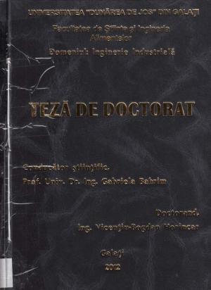Cover for Extracția și caracterizarea compușilor bioactivi  din alge marine: teză de doctorat