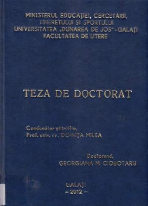 Cover for Tematizarea identității în literatura Europei Centrale: teză de doctorat
