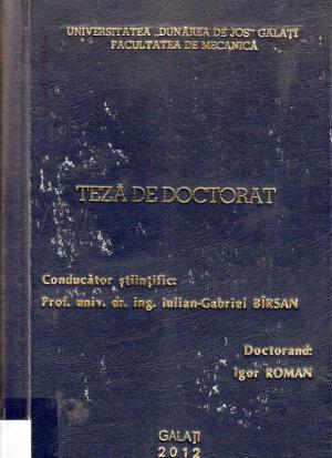 Cover for Contribuţii la studiul proprietăţilor mecano-tribologice ale unor compozite polimerice epoxidice: teză de doctorat