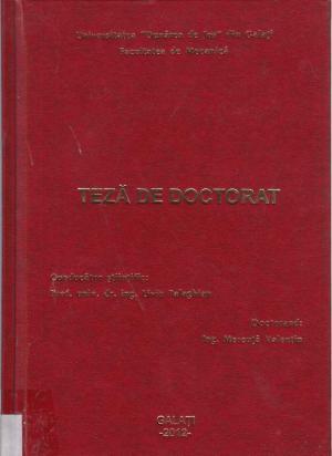 Cover for Studii privind influenţa stării de integritate a suprafeţei asupra degradării prin oboseală: teză de doctorat