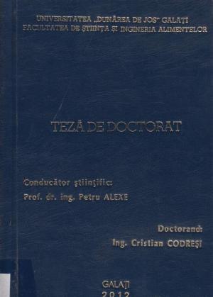 Cover for Optimizarea tehnologiei de obţinere a vinurilor albe prin biotehnologii moderne în podgorii de referinţă (reprezentative) ale României: teză de doctorat