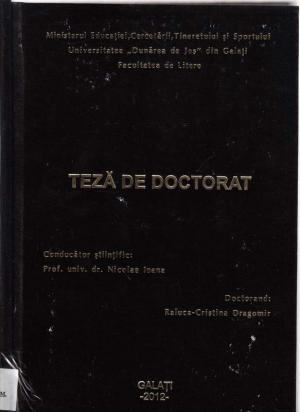 Cover for Marin Preda şi literatura franceză: teză de doctorat