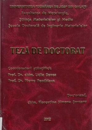 Cover for Suprafețe funcționale Co / nano - ZrO2 obţinute  prin electrodepunere pentru utilizarea în industrie  şi biomedicină: teză de doctorat