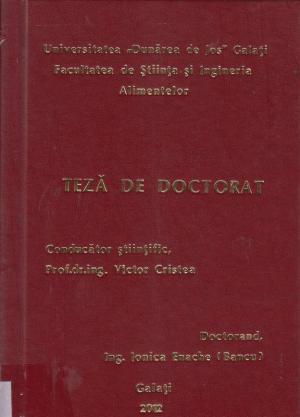 Cover for Cercetări privind evaluarea plasticitaţii tehnologice  a puietului de crap, Cyprinus carpio (Linnaeus, 1758),  în condiţiile unui sistem recirculant de acvacultură industrială: teză de doctorat