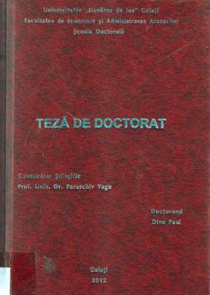 Cover for Perfecţionarea managementului carierei în unităţile de poliţie din România: teză de doctorat