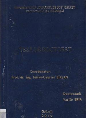 Cover for Contribuții la studiul proprietăților mecanice ale materialelor compozite armate cu țesuturi și matrice epoxidică aditivată cu amidon: teză de doctorat