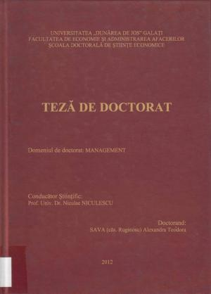 Cover for Gestiunea riscurilor și crizelor organizaționale: teză de doctorat