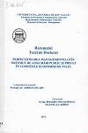 Cover for Perfecționarea managementului în sistemul de asigurări public și privat în condițiile economiei de piață: teză de doctorat