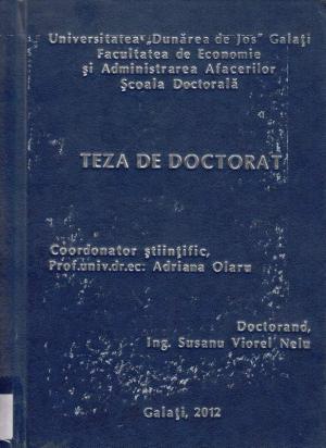 Cover for Reengineering-ul organizațiilor din industria tipografică, ca urmare a integrării in Uniunea Europeană: teză de doctorat