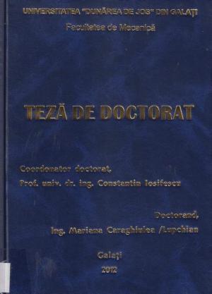 Cover for Contribuții la optimizarea regimurilor de funcționare ale instalațiilor energetice cu motoare cu ardere internă: teză de doctorat