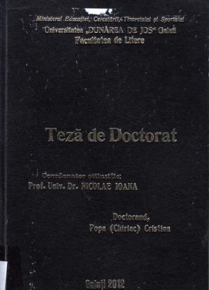 Cover for Coexistența generațiilor literare în perioada '90 - 2000: teză de doctorat