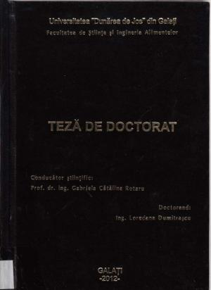 Cover for Indicatori de diferenţiere al tratamentelor termice aplicate în industria laptelui: teză de doctorat