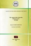 "Cover for The Annals of ""Dunarea de Jos"" University of Galati, Food technology: fascicula VI"
