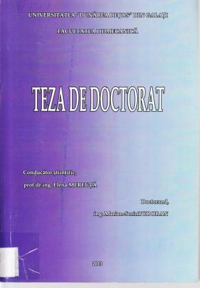 Cover for Modele biomecanice și virtuale pentru corectarea poziţiilor membrului superior uman: teză de doctorat