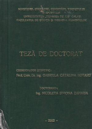 Cover for Studiul comparativ al metodelor de accelerare a procesului de maturare a brânzeturilor cu pastă filată: teză de doctorat
